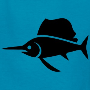 Sailfish (Swordfish) Silhouette Kids' Shirts - Kids' T-Shirt