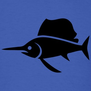 Sailfish (Swordfish) Silhouette T-Shirts - Men's T-Shirt