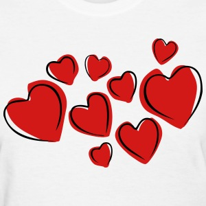 Love Hearts Floating (Drawing) T-Shirts - Women's T-Shirt