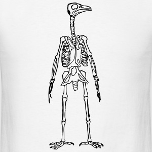 Bird Man Skeleton T-Shirts - Men's T-Shirt
