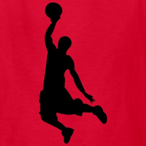 Slam Dunk Basketball Player Silhouette Kids' Shirts - Kids' T-Shirt