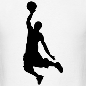 Slam Dunk Basketball Player Silhouette T-Shirts - Men's T-Shirt