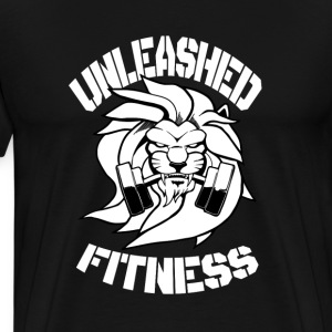 Unleashed Fitness Men's Tough Tee (black and white - Men's Premium T-Shirt