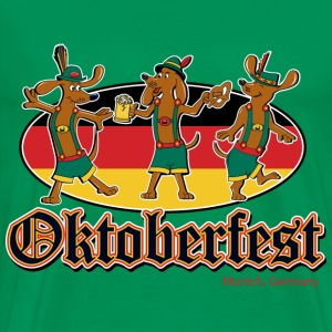 Octoberfest Dancing Dachshunds - Men's Premium T-Shirt