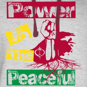Power to the peaceful Hoodies - Colorblock Hoodie