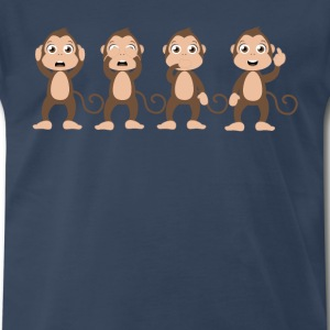 Four wise monkeys - Men's Premium T-Shirt