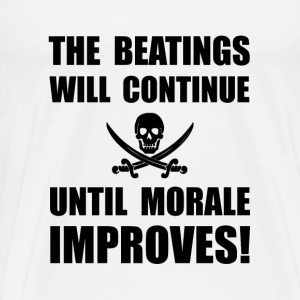 Beatings Morale Improve - Men's Premium T-Shirt