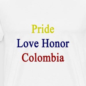 pride_love_honor_colombia T-Shirts - Men's Premium T-Shirt