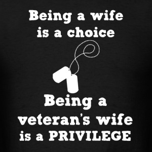Veteran's Wife Shirt - Men's T-Shirt