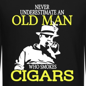 Old Man Who Smokes Cigars - Crewneck Sweatshirt