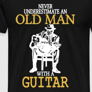 Old Man With A Guitar - Men's Premium T-Shirt