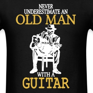 Old Man With A Guitar - Men's T-Shirt