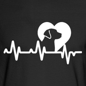 Dog Heartbeat Shirt - Men's Long Sleeve T-Shirt