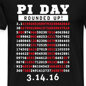 Pi Day Rounded Up - Men's Premium T-Shirt