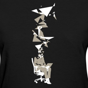 Business Man with Head Exploding into Triang - Women's T-Shirt