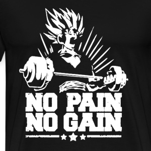 Vegeta No Pain No Gain - Men's Premium T-Shirt