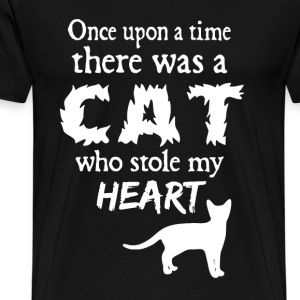 A Cat Who Stole My Heart - Men's Premium T-Shirt