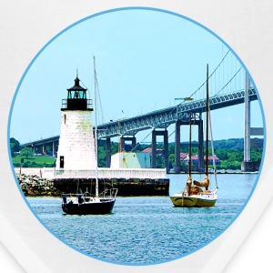 Lighthouse, Bridge and Boats, Newport, RI Caps - Bandana