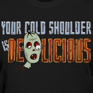 Zombie, Cold Shoulder T-Shirts - Women's T-Shirt