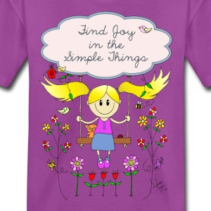 Find Joy in Simple Things Design - Kids' Premium T-Shirt