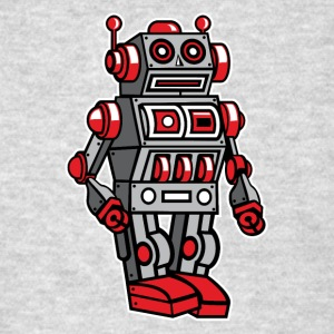 Retro Metal Toy Robot T-Shirts - Men's T-Shirt
