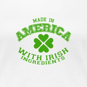 made with irish  - Women's Premium T-Shirt