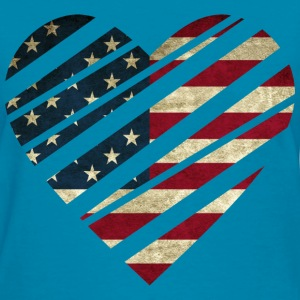 USA Heart T-Shirts - Women's T-Shirt