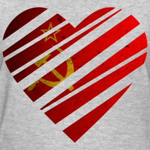 Soviet Union Heart T-Shirts - Women's T-Shirt