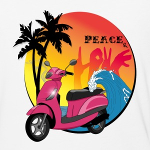 Peace and love - Baseball T-Shirt