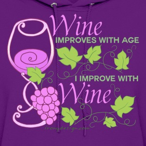 Wine Improves With Age - Women's Hoodie