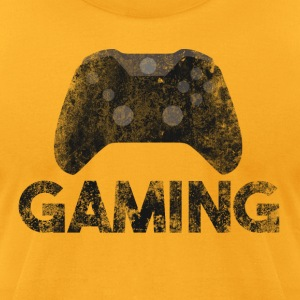 gaming grunge graffiti controller art T-Shirts - Men's T-Shirt by American Apparel