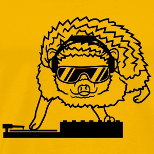dj party mischpult disco sunglasses cool headphone T-Shirts - Men's Premium T-Shirt