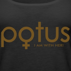 potus I am with her Tanks - Women's Premium Tank Top