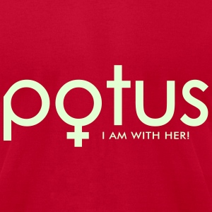 potus I am with her T-Shirts - Men's T-Shirt by American Apparel