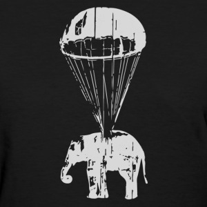 Elephant in Parachute - Women's T-Shirt