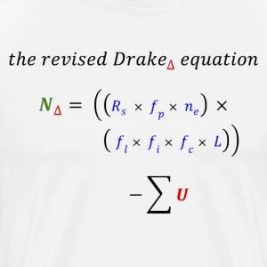 modified Drake equation - Men's Premium T-Shirt