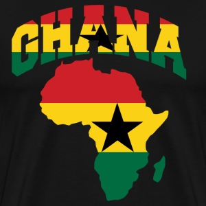 Men's Ghana Flag In Africa Map T-Shirt - Men's Premium T-Shirt