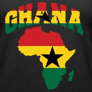 Ghana Flag In Africa Map tank tee - Women's Premium Tank Top