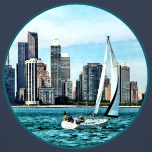 Chicago IL - Sailboat Against Chicago Skyline Sportswear - Men's Premium Tank