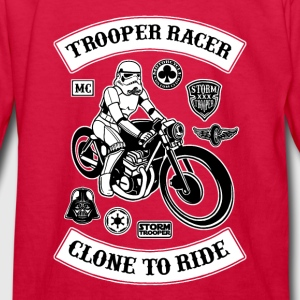 Stormtrooper Biker Racer Kids' Shirts - Kids' Long Sleeve T-Shirt
