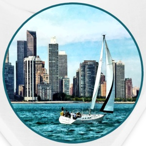 Chicago IL - Sailboat Against Chicago Skyline Caps - Bandana