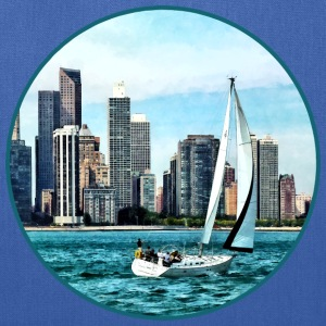 Chicago IL - Sailboat Against Chicago Skyline Bags & backpacks - Tote Bag