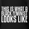 Black Feminist Baby - Short Sleeve Baby Bodysuit