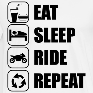 eat sleep ride T-Shirts - Men's Premium T-Shirt