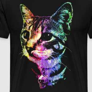 Rainbow Skull Kitty - Men's Premium T-Shirt