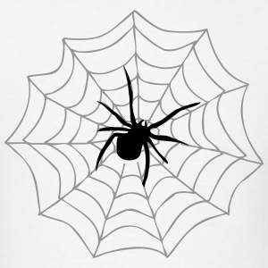 Spider on Web T-Shirts - Men's T-Shirt