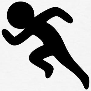 Sprinting / Running Stickman T-Shirts - Men's T-Shirt