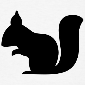 Squirrel Silhouette T-Shirts - Men's T-Shirt