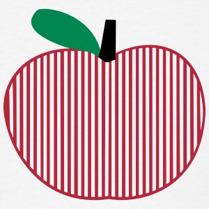 Striped Art Apple T-Shirts - Men's T-Shirt