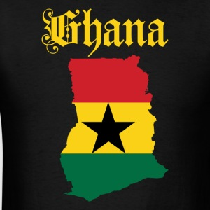 Men's Ghana Flag Map T-Shirt - Men's T-Shirt